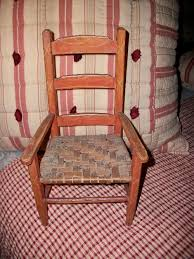 Childs Antique Chair Antique Child U0027s Chair In Original Red Paint U0026 Woven Splint Seat