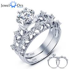 sterling silver wedding gifts luxurious wedding ring bridal 925 sterling silver 7mm cubic
