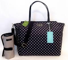 diaper bags black friday kate spade taden blake avenue baby diaper bag tote polka dot black