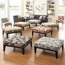 Upholstered Ottomans Inspire Q Ashland 36 Inch Floral Upholstered Cocktail Ottoman