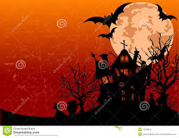 halloween haunted house silhouette stock photography image 27435402