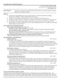 Best Resume For Nurses by New Nurse Resume Template Resume Template Graduate Nurse New