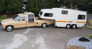 vintage toyota truck vintage chic weekender 1981 toyota dually u0026 camper
