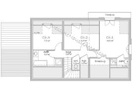 plan maison etage 4 chambres 1 bureau plans de maisons individuelles avec 4 chambres