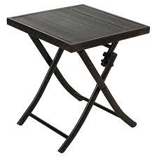 Patio Side Tables Faux Wood Patio Folding Side Table Black Captiva Design Target