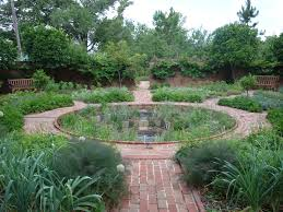 circle within a square with access pathways garden potagers