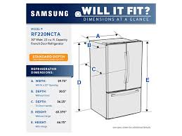 black friday french door refrigerator rf220nctasr 30 inch 22 cu ft frech door refrigerator samsung us