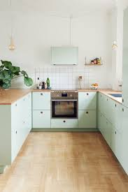 Ikea Kitchen Cabinet Hacks Stylish Ikea Hack Kitchen With Mint Green Cabinet Fronts By Reform