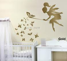 popular fairy wall decals buy cheap fairy wall decals lots from fairy blowing butterflies wall decal 3d poster vinyl wall sticker fairy kids room nursery wall art