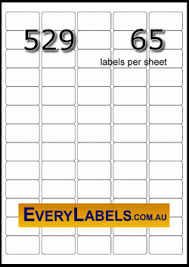 Label Printing Template 21 Per Sheet by 529 Rectangle 38 1 X 21 2 White Premium Labels Avery L7651