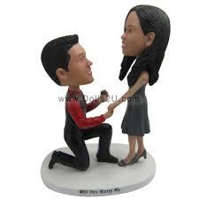 marry me bobbleheads custom wedding cake topper bobbleheads