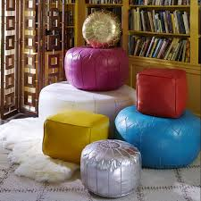 modern moroccan leather moroccan pouf modern holding category for inventory