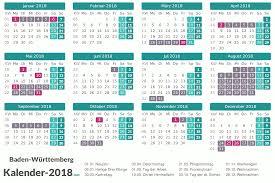 Ferienkalender 2018 Bw Ferien Baden Württemberg 2018 Ferienkalender übersicht
