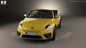 yellow volkswagen convertible 360 view of volkswagen beetle dune convertible 2016 3d model