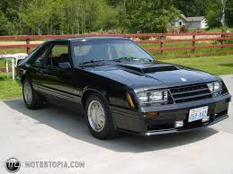 Black Mustang Car 1982 Ford Mustang Gt Id 10121