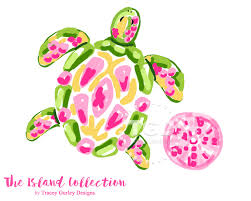 preppy sea turtle clip art preppy pink sea urchin clip art