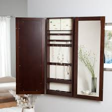 Hayworth Jewelry Armoire Jewelry Armoires Belham Living Hollywood Mirrored Locking