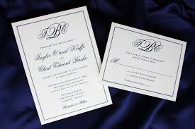 wording wedding invitations3 initial monogram fonts formal navy blue monogram and border wedding invitations emdotzee