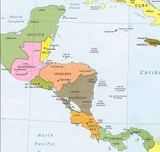 Latin America Blank Physical Map by Map Of Central America And The Caribbean Roundtripticket Me