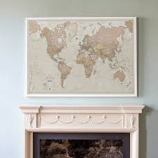 World Map Necklace by Framed World Maps For Sale