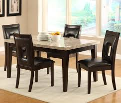 homelegance hahn marble top dining table in espresso beyond stores