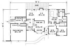 single house plan single ranch 0614p architectural designs