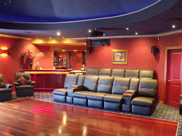 Home Movie Theater Wall Decor Wonderful Home Movie Room Ideas With Red Walls Appealing Movie
