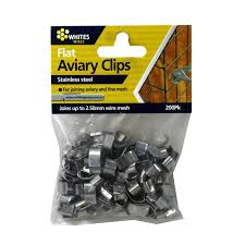 flat aviary clips pack of 200 for 2 5mm wire fence fencing 12408