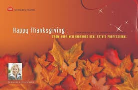 power real estate marketing thanksgiving postcards the tone and