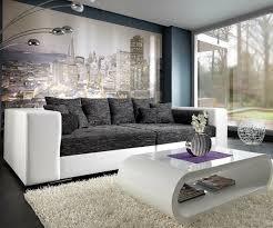 Xxl Wohnzimmer Tisch Xxl Sofa Marlen Schwarz Weiss 300x140 Cm Bigsofa