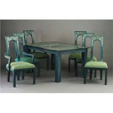 Teal Dining Table Mont Limed Oak Dining Table In Teal And