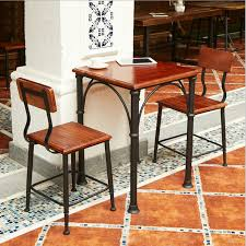 american table and chairs retro old casual coffee table bar dining table and chairs fight iron