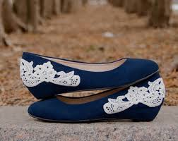 wedding shoes etsy navy bridal shoes etsy