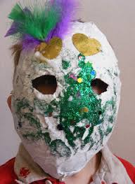 green mardi gras mask paper mache mardi gras mask family crafts
