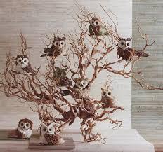 parliament of owls ornaments owl tree ornament set of 9