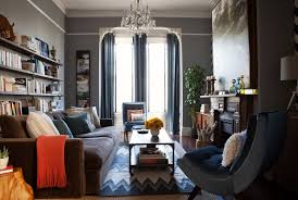 masculine living room in a victorian row house my san francisco