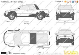 fiat strada the blueprints com vector drawing fiat strada adventure