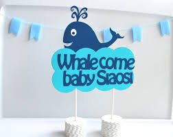baby shower whale theme whale come centerpiece welcome centerpiece whale baby
