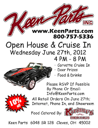 keen corvette keen parts 2012 open house and cruise in keen parts