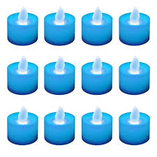 blue tea light candles 12ct battery operated led tea lights blue target