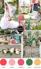 garden wedding ideas coral u0026 raspberry wedding colours