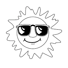 sun coloring pages rainbow with clouds and sun coloring page