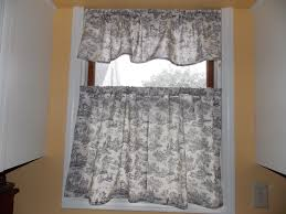 Toile Cafe Curtains Our Eclectic Pretty Sew Yourself Kitchen Cafe Curtains