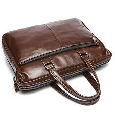 Cowhide Briefcase Dalfr Genuine Leather Handbag Men Casual Style Bag For Men Cowhide