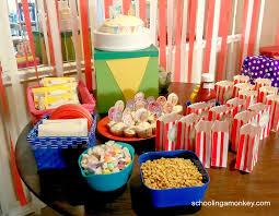 circus party menu circus food and snacks