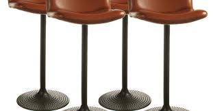 entertain leather and metal bar stools tags leather counter bar
