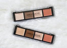 make up for ever pro sculpting face palette review swatches