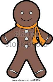 gingerbread man cookie christmas related icon image stock vector