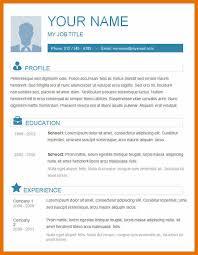 Plain Resume Template 7 Resume Aplicant Bibliography Apa