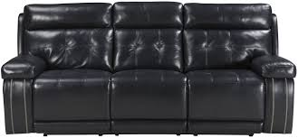 graford navy power reclining sofa with adjustable headrest from